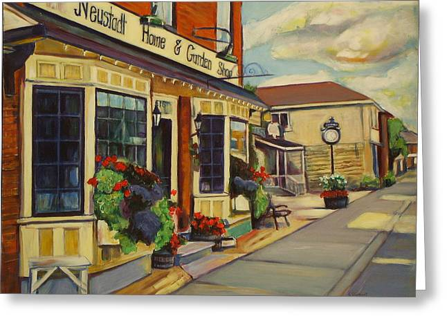 Kitchener Paintings Greeting Cards - Neustadt Ontario Greeting Card by Sheila Diemert