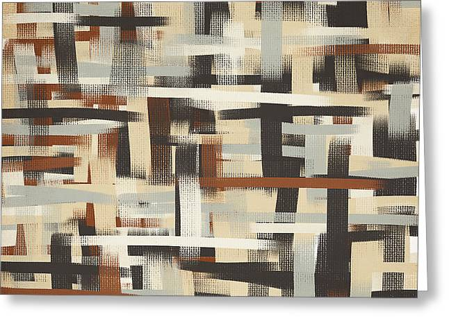 Brown Tones Digital Greeting Cards - Neutral Patterns Greeting Card by Lourry Legarde
