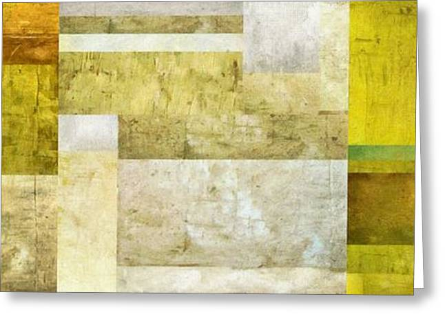 Geometric Art Greeting Cards - Neutral Study No. 5 Greeting Card by Michelle Calkins