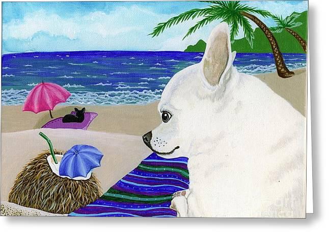 Lori Ziemba Greeting Cards - Neutron at the Beach Greeting Card by Lori Ziemba