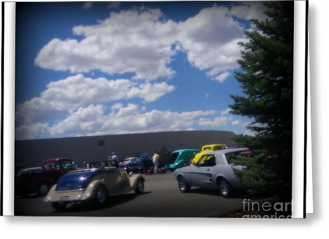 Print On Acrylic Greeting Cards - Nevada Blue Sky Greeting Card by Bobbee Rickard