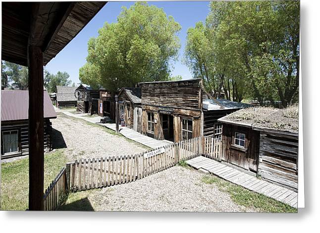 Gravel Road Greeting Cards - Nevada City Ghost Town Main Street - Montana Greeting Card by Daniel Hagerman