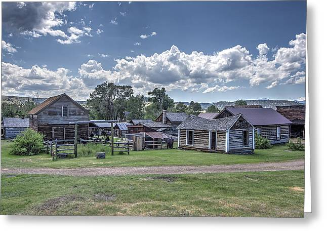 Gravel Road Greeting Cards - Nevada City Ghost Town - Montana Greeting Card by Daniel Hagerman