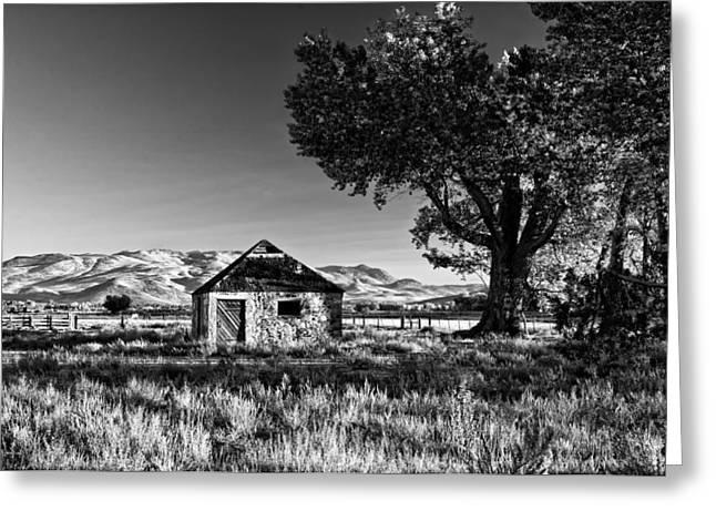 Stone House Greeting Cards - Nevada Countryside Greeting Card by Kurt Golgart