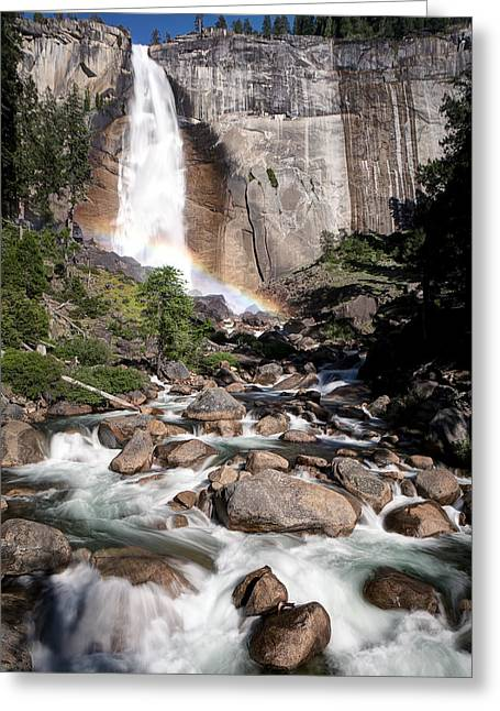 Santa Cruz Ca Greeting Cards - Nevada Falls Yosemite Greeting Card by Chris Frost
