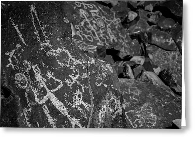 Petroglyph Greeting Cards - Nevada Petroglyphs Greeting Card by Scott McGuire