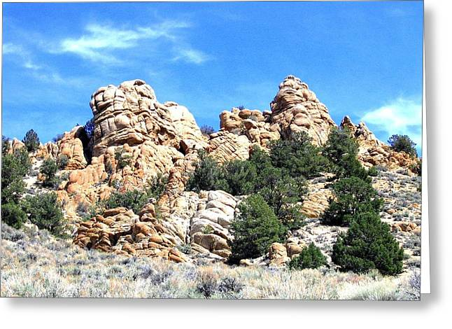 Intrigue Greeting Cards - Nevada Rock Formations 1 Greeting Card by Will Borden