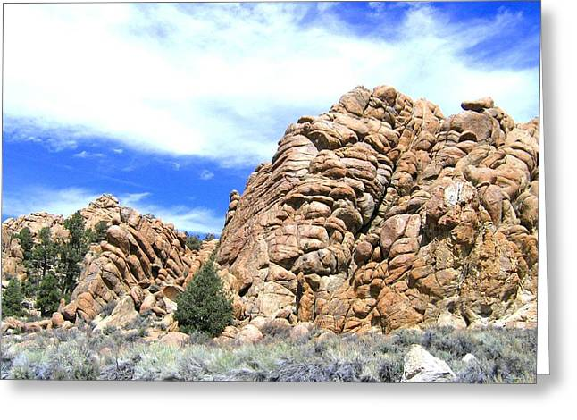 Intrigue Greeting Cards - Nevada Rock Formations 2 Greeting Card by Will Borden