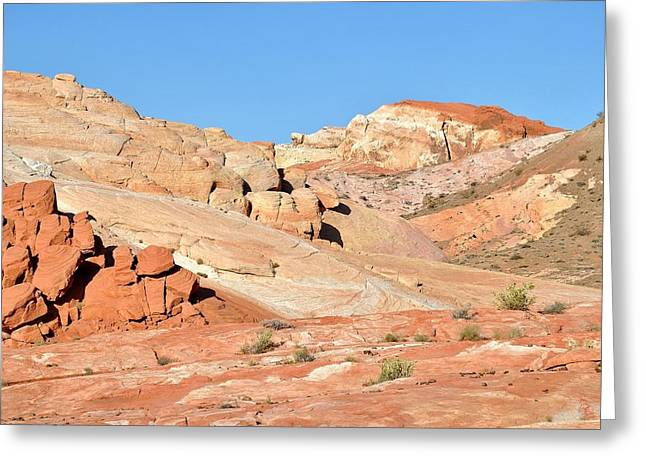 Landscape Framed Prints Greeting Cards - Nevada Rocks 26A Greeting Card by John Hintz