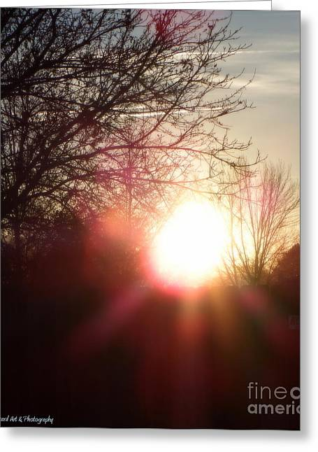 Sunset Framed Prints Greeting Cards - Nevada Sunset Greeting Card by Bobbee Rickard