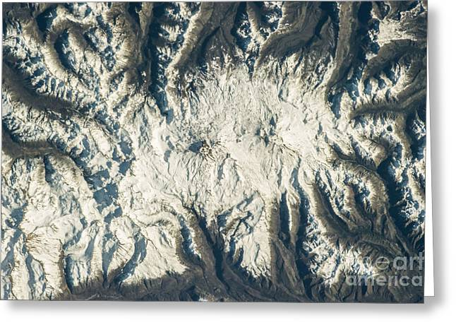 Satellite View Greeting Cards - Nevados De Chillan Greeting Card by Science Source