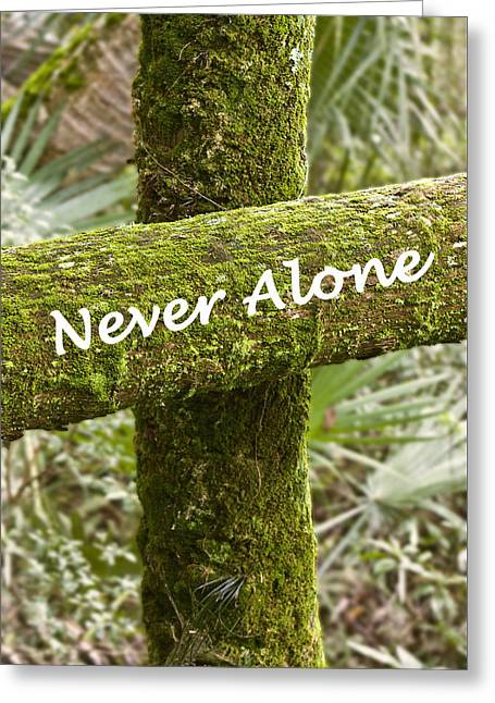 Sympathy Greeting Cards - Never Alone Greeting Card by Dawn Currie