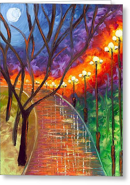 Jessilyn Park Greeting Cards - Never Alone Greeting Card by Jessilyn Park