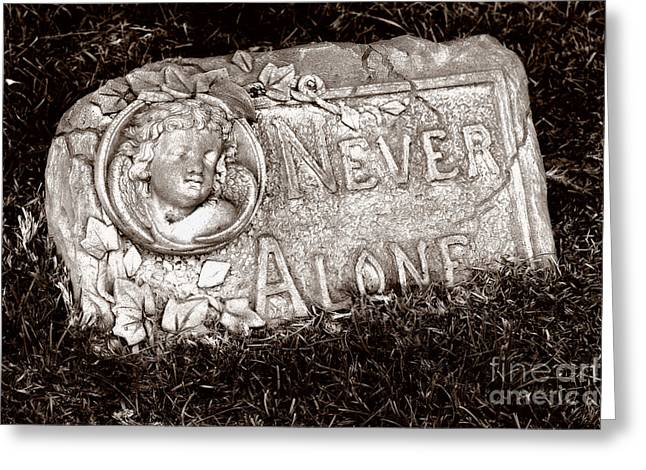 Never Alone Greeting Cards - Never Alone Greeting Card by Karen Joslin