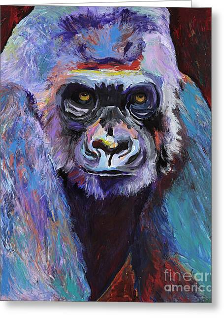 Never Date A Gorilla With A Nice Smile Greeting Card by Pat Saunders-White