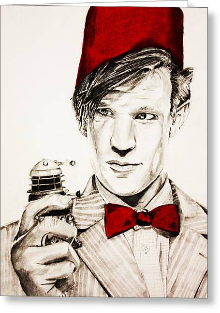 11th Doctor Greeting Cards - Never ending Time War Greeting Card by Nick Vogt