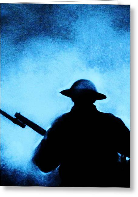 Ww1 Greeting Cards - Never Forget Greeting Card by Dawn Davies