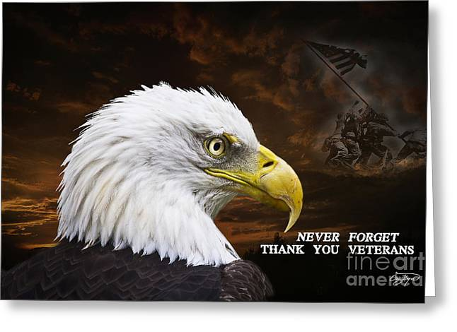 Never Forget - Memorial Day Greeting Card by Cris Hayes