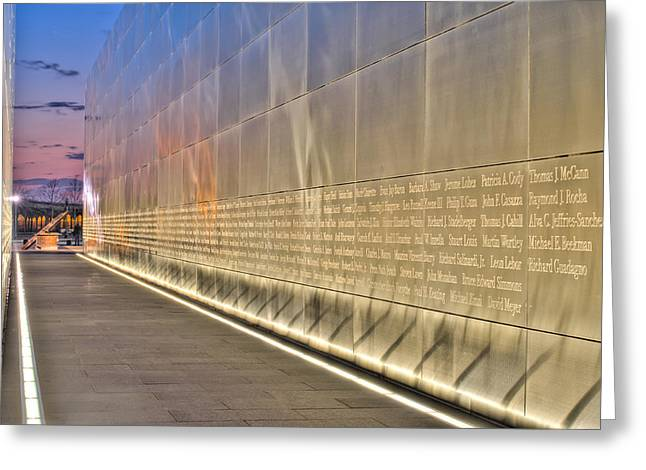 Wtc 11 Greeting Cards - Never Forgotten Greeting Card by Joseph Nuzzo
