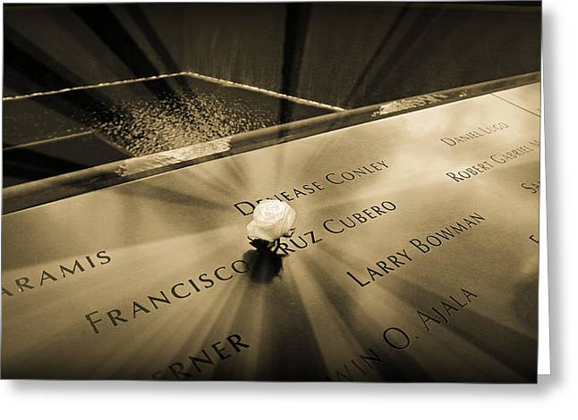 Ground Zero Greeting Cards - Never Forgotten Greeting Card by Stephen Stookey