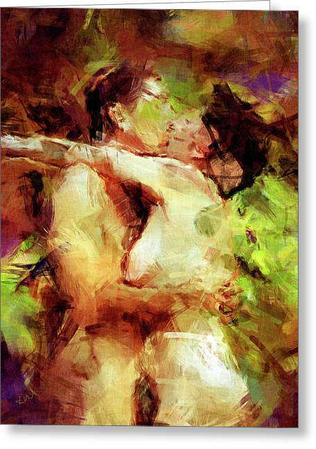 Couple Kissing Greeting Cards - Never Let Me Go Greeting Card by Kurt Van Wagner