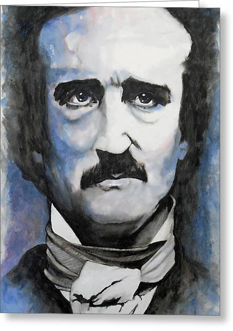 William Walts Greeting Cards - Never More - Poe Greeting Card by William Walts