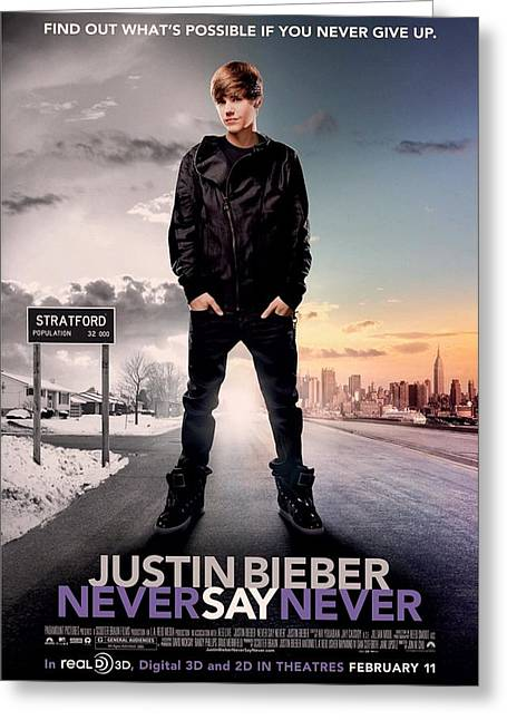 Movie Poster Gallery Greeting Cards - Never Say Never 1 Greeting Card by Movie Poster Prints