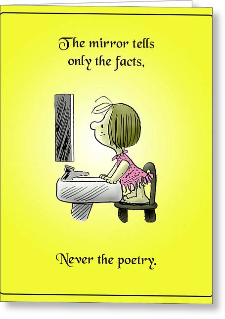 Inner Self Photographs Greeting Cards - Never the Poetry Greeting Card by Mike Flynn