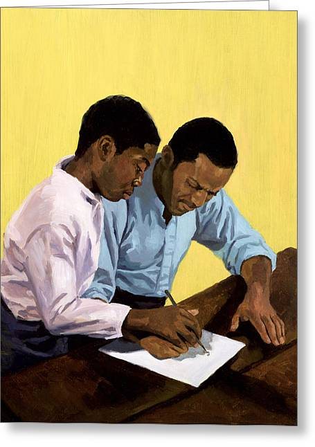 African-american Paintings Greeting Cards - Never Too Old Greeting Card by Colin Bootman