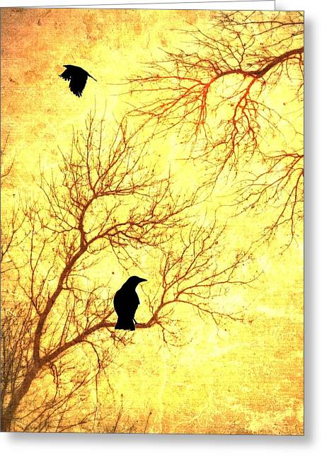 Crow Mixed Media Greeting Cards - Nevermore Greeting Card by Dan Sproul