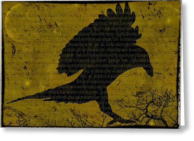 Grunts Greeting Cards - Nevermore Greeting Card by Nichon Thorstrom