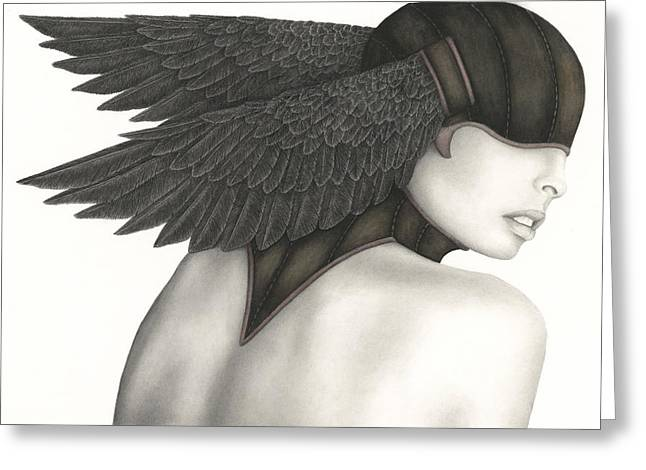 Helmet Greeting Cards - Nevermore Greeting Card by Pat Erickson