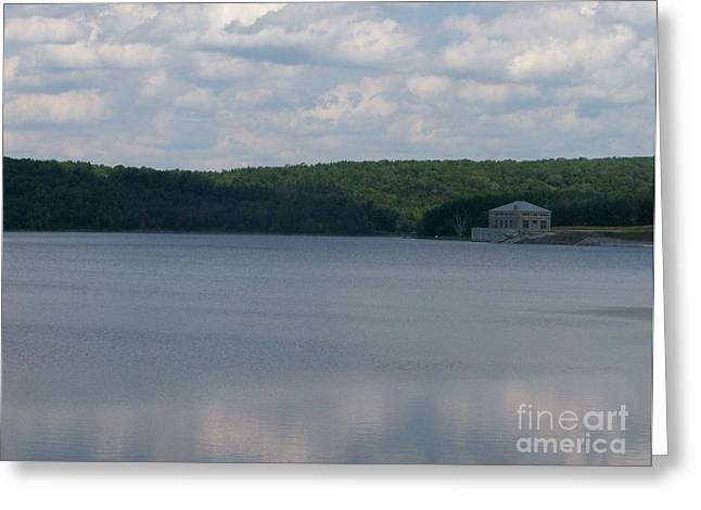 New York State; American Landscape; Rural; Countryside; New England; Church; Woodland; Trees; Hudson River School Greeting Cards - Neversink Reservoir Greeting Card by Kevin Croitz