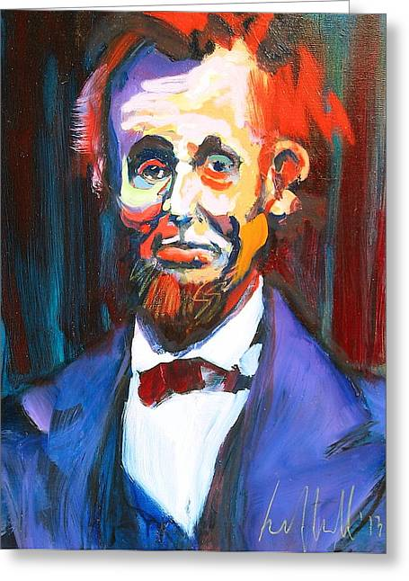 New Abe Greeting Card by Les Leffingwell