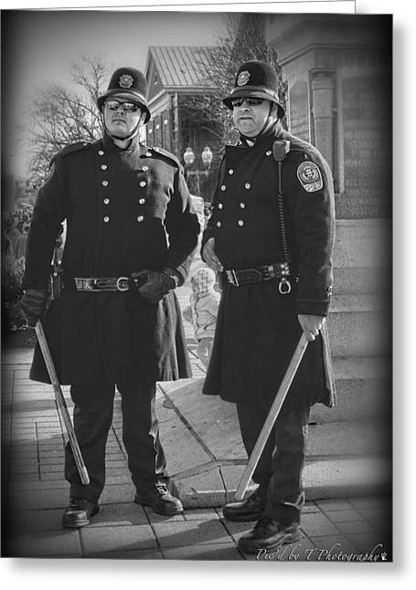 Downtown Franklin Greeting Cards - New Age Coppers Greeting Card by Pic