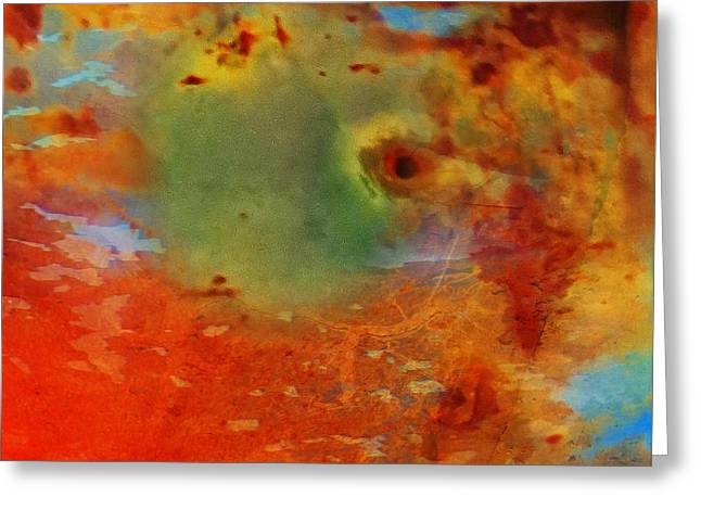 Desiree Paquette Greeting Cards - New Age Galactic Greeting Card by Desiree Paquette