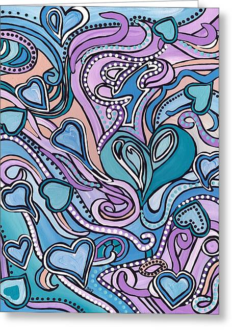 Ties That Bind Greeting Cards - New Age Heart with Soul Greeting Card by Barbara St Jean