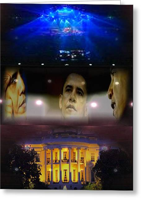 President Obama Greeting Cards - New Age Pioneer Without Labeling Greeting Card by Debra MChelle