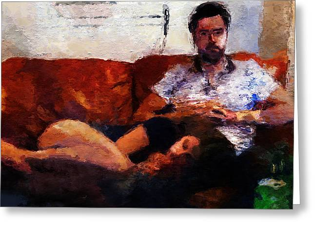 New Greeting Cards - New American Gothic Greeting Card by David Derr