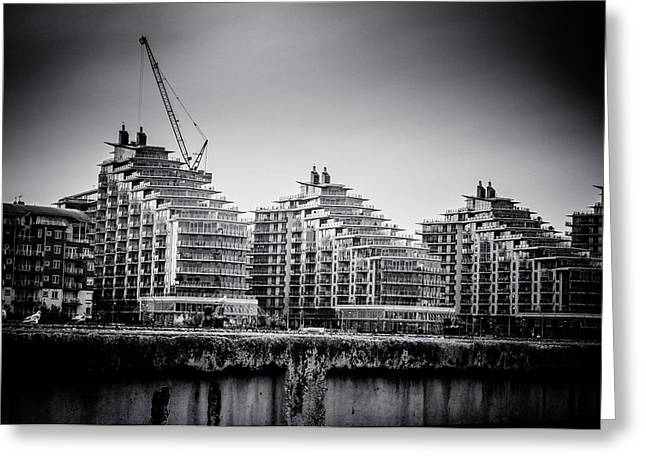 Carter House Greeting Cards - New Apartments in Battersea Greeting Card by Lenny Carter