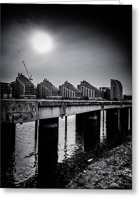Carter House Greeting Cards - New Apartments near Battersea Greeting Card by Lenny Carter