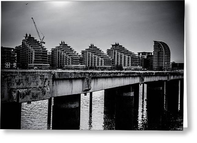 New Apartments near Battersea Greeting Card by Lenny Carter