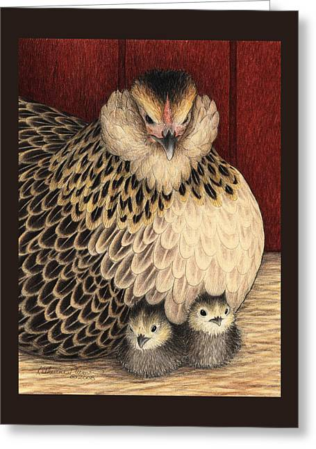 Barn Drawings Greeting Cards - New Arrivals Greeting Card by Katherine Plumer