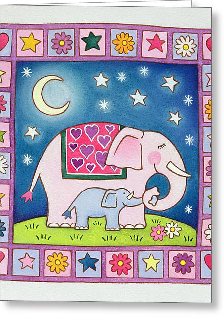 Newborns Greeting Cards - New Baby, 1999 Wc On Paper Greeting Card by Cathy Baxter