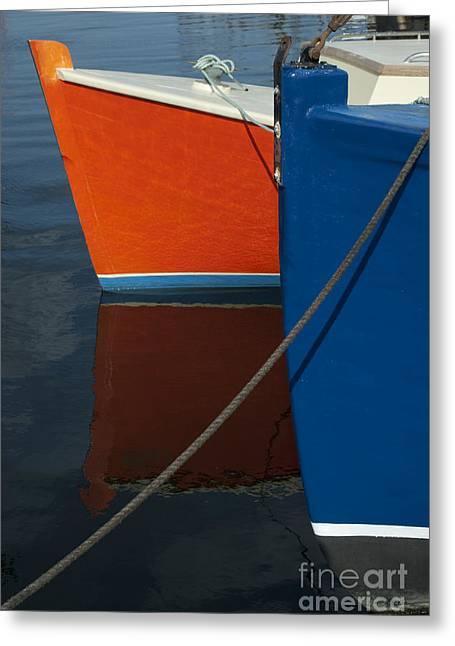 Wampanoag Greeting Cards - New Bedford Waterfront No. 3 Greeting Card by David Gordon