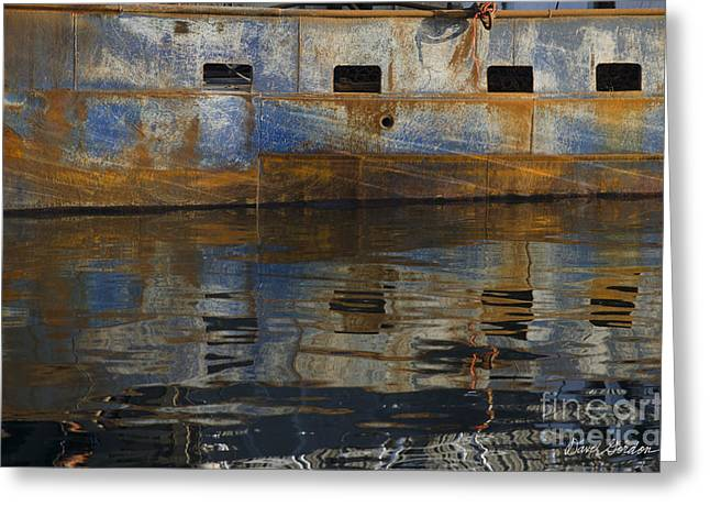 New England Village Greeting Cards - New Bedford Waterfront No. 6 Greeting Card by David Gordon