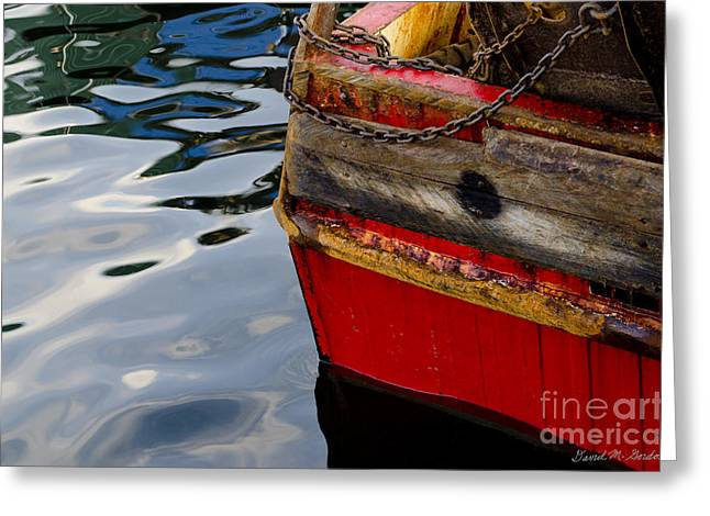 New England Village Greeting Cards - New Bedford Waterfront No. 8 Greeting Card by David Gordon