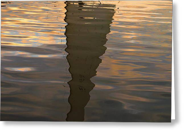 Sailboat Photos Greeting Cards - New Bedford Waterfront XIII Greeting Card by David Gordon