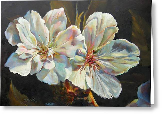 Cherry Blossoms Paintings Greeting Cards - New Beginnings Greeting Card by Chris Brandley