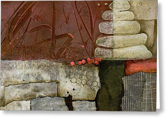Abstract Collage Greeting Cards - New Beginnings Greeting Card by Laura  Lein-Svencner